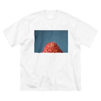 いちごのうぶけは新鮮なんだって。 Big silhouette T-shirts
