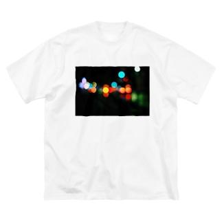 視力が悪い人がイルミネーション見るとこんな感じ。 Big silhouette T-shirts
