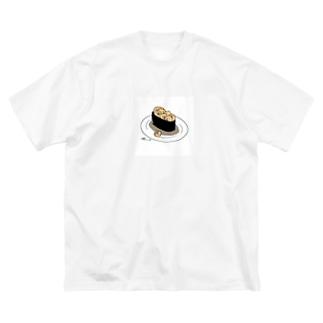 ぴえもん軍艦 Big silhouette T-shirts