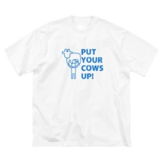 PUT YOUR COWS UP! Big silhouette T-shirts