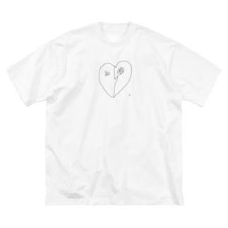 ハートアンドハート Big silhouette T-shirts