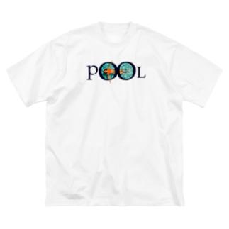 プール 3 Big silhouette T-shirts