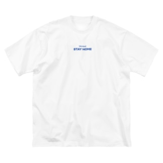 (always)STAY HOME Big silhouette T-shirts