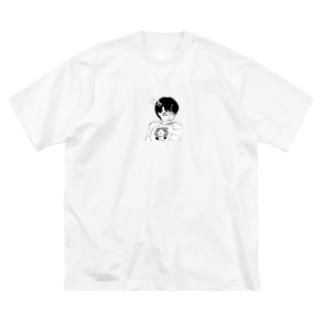 peequod×小骨トモ コラボ Big silhouette T-shirts