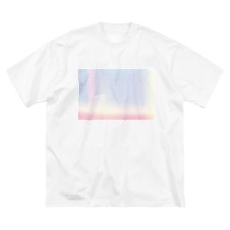 一目惚れ 半分 Big silhouette T-shirts