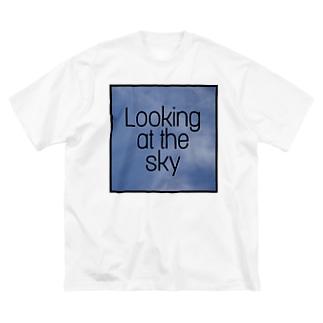 空を見て Big silhouette T-shirts