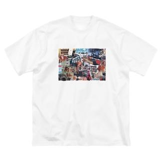 漂流 Big silhouette T-shirts