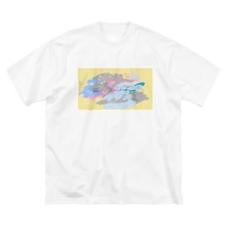 ワタリドリのゆくえ Big silhouette T-shirts