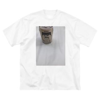 ミルクコーヒーt Big silhouette T-shirts