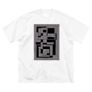 gray no meiro Big silhouette T-shirts