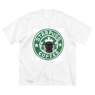 antienneのSTARPUGS1 Big silhouette T-shirts