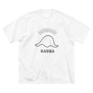 SAUNA_HAT Big silhouette T-shirts