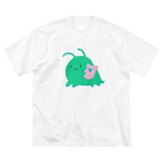 うちゅうのなかまネッシーもどき Big silhouette T-shirts
