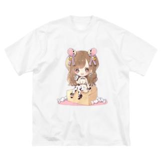 ひなぺち Big silhouette T-shirts