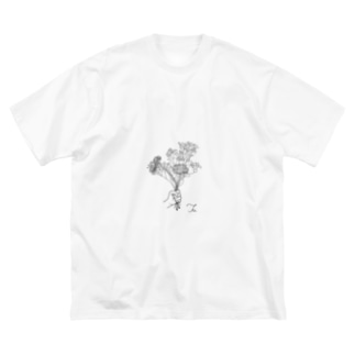 flower Big silhouette T-shirts