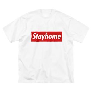 Stayhome BOXロゴシリーズ Big silhouette T-shirts