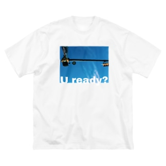 U ready? ヨコ Big silhouette T-shirts