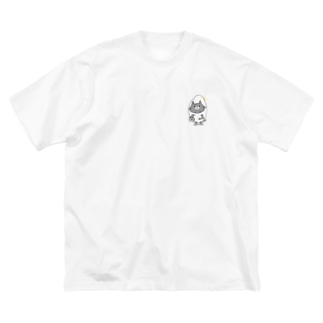 コメネコ_tシャツ Big silhouette T-shirts