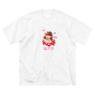 キャンディーおしのちゃん Big silhouette T-shirts