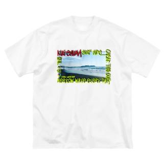 鵠沼海岸 Beahシリーズ Big silhouette T-shirts