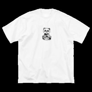えとせとらの仲間たちのえとせとらの仲間たち(白黒パンダロゴ入り) Big silhouette T-shirts