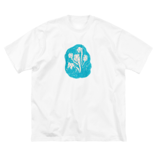 wasamiのsky blue Big silhouette T-shirts