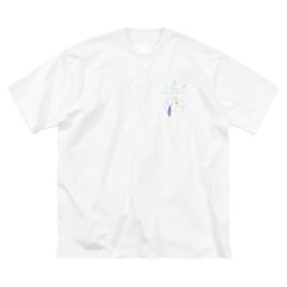 hosi7 ほしななのユニコーン Big silhouette T-shirts