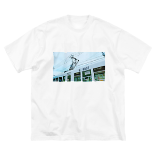 かのの電車 Big silhouette T-shirts