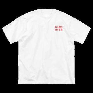 アメリカンベースのゲームオーバー Big silhouette T-shirts