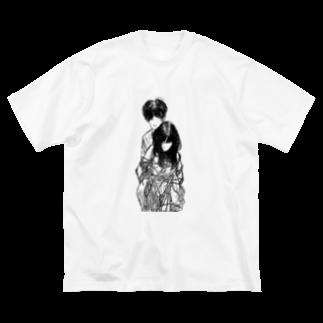 nutsnutsnutsのundu  Big silhouette T-shirts