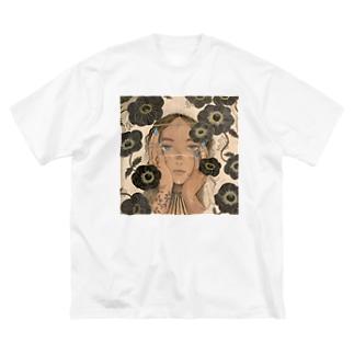 花の森・醒 Big silhouette T-shirts