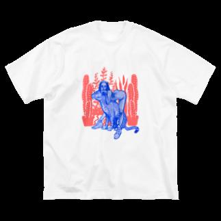 3050円のレオパードガール Big silhouette T-shirts