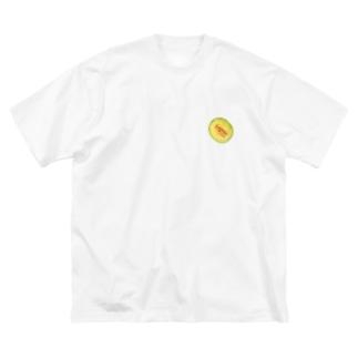 メロン Big silhouette T-shirts