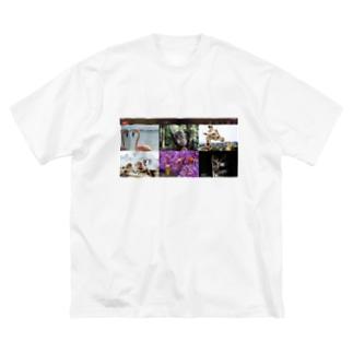 酒クズーム飲み Big silhouette T-shirts