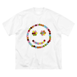 マーブルスマイル Big silhouette T-shirts
