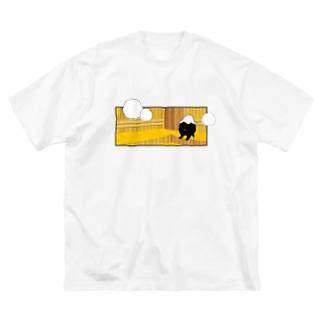 SAUNA_SASHITSU Big silhouette T-shirts
