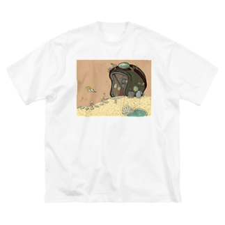 ビッグシルエットTシャツ:ヘルメットコテージ Big silhouette T-shirts