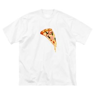 ピッツァ Big silhouette T-shirts