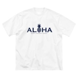 ALOHA パイナップル 030 Big silhouette T-shirts