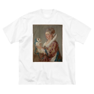 A Woman with a Dog Big silhouette T-shirts