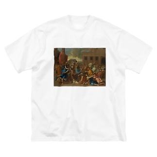 The Abduction of the Sabine Women Big silhouette T-shirts