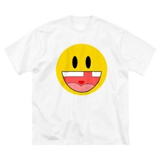 工場長のガハハ Big silhouette T-shirts