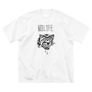 ノーライフ寅サン Big silhouette T-shirts