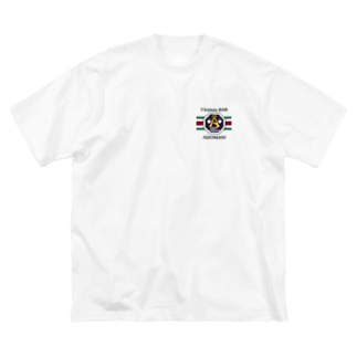 ADOMANI ロゴ ライン付き Big Silhouette T-Shirt