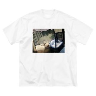 いぬみさんTシャツ Big silhouette T-shirts