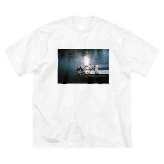 白河夜船 Big silhouette T-shirts