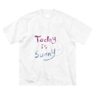 TODAY IS SUNNY Big silhouette T-shirts