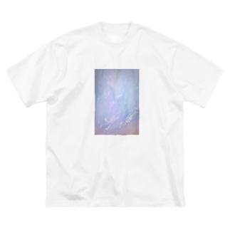 くしゃくしゃクリア Big silhouette T-shirts