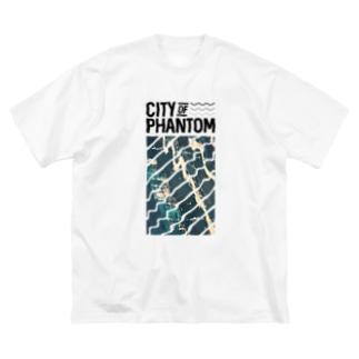 都市の亡霊 「Sunken Ship」 Big silhouette T-shirts