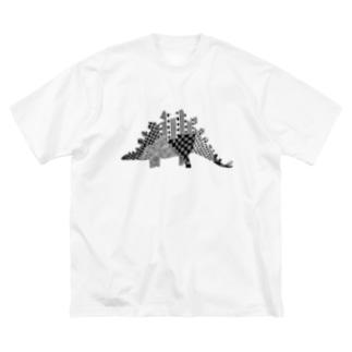 ステゴサウルス Big silhouette T-shirts